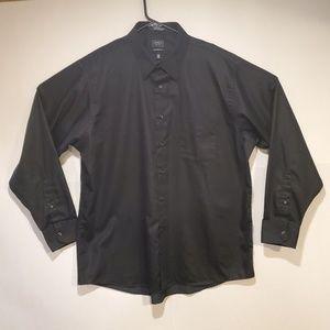 ARROW Men's Solid Black Long Sleeve Shirt XL